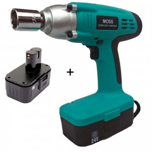 "Heavy Duty 24v Cordless Impact Wrench Gun 1/2"" Drive"