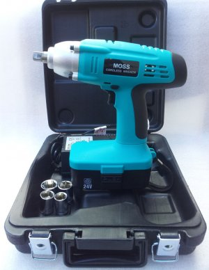 "Moss 24v Cordless Impact Wrench Gun 1/2"" Drive Reversible"
