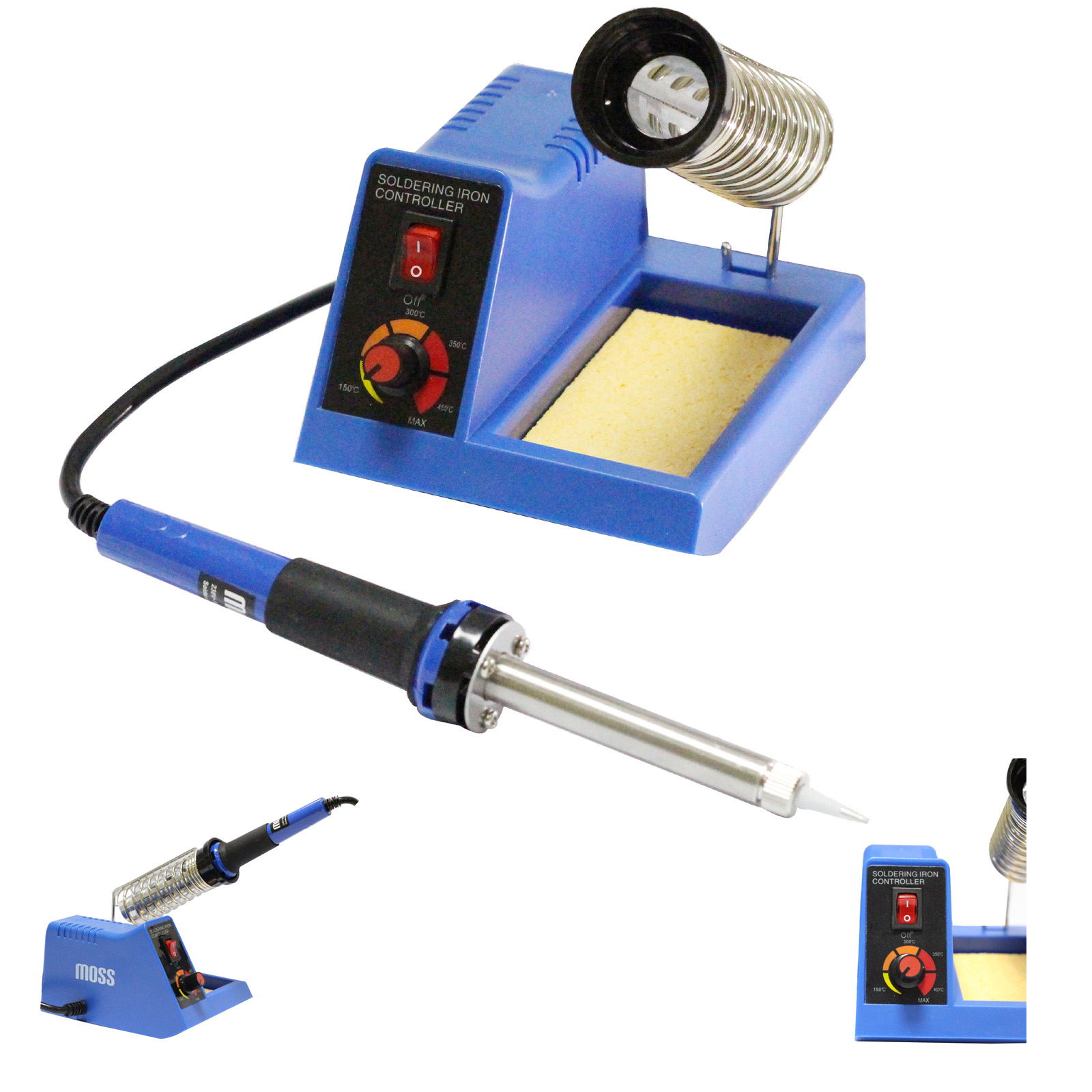58w moss variable temperature control soldering station iron electronic stand ebay. Black Bedroom Furniture Sets. Home Design Ideas