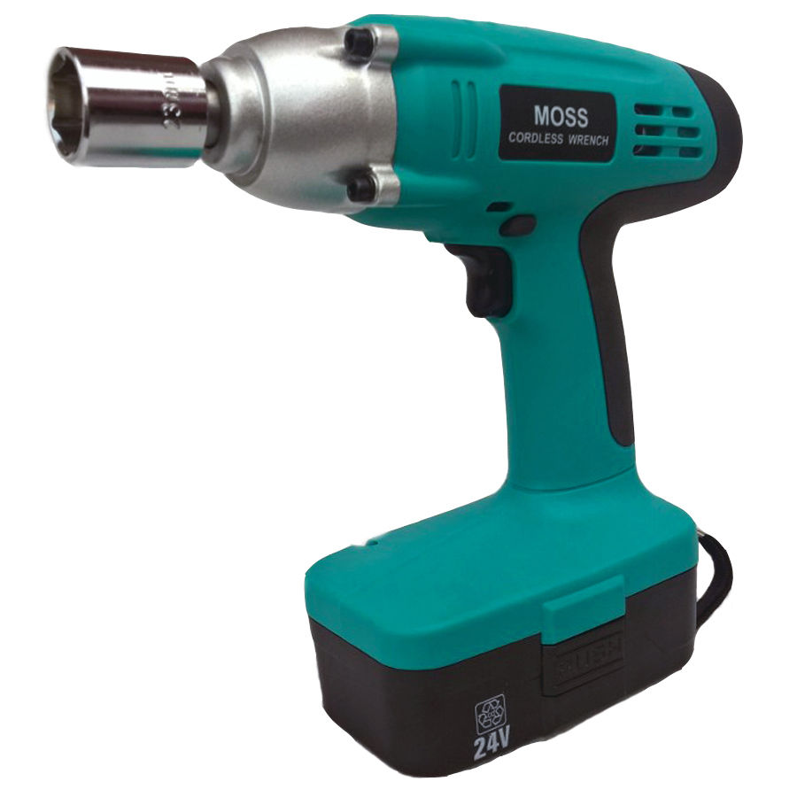 """Electronic Torque Wrench >> MOSS High Torque 24v 1/2"""" Drive cordless impact wrench with 1 Hour Charger 