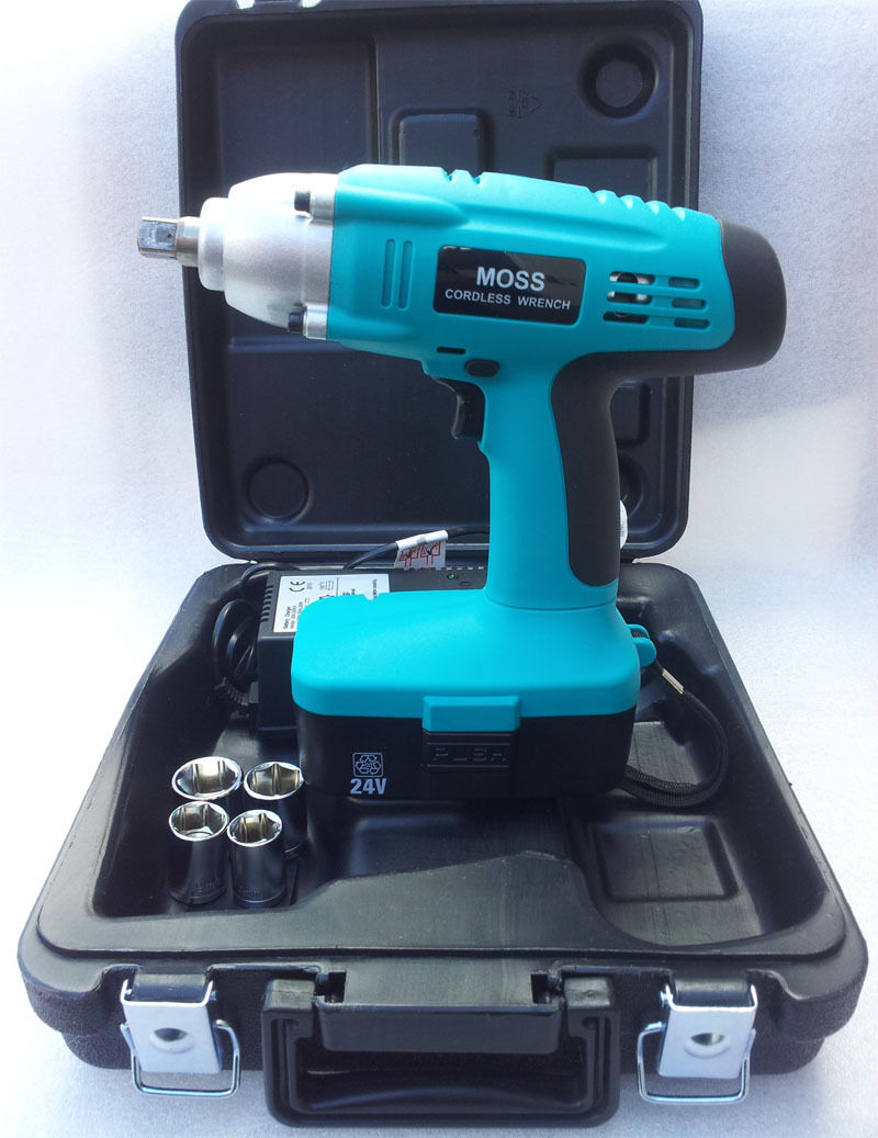 Details About Moss 24v Cordless Impact Wrench Gun 1 2 Drive Reversible Carry Case