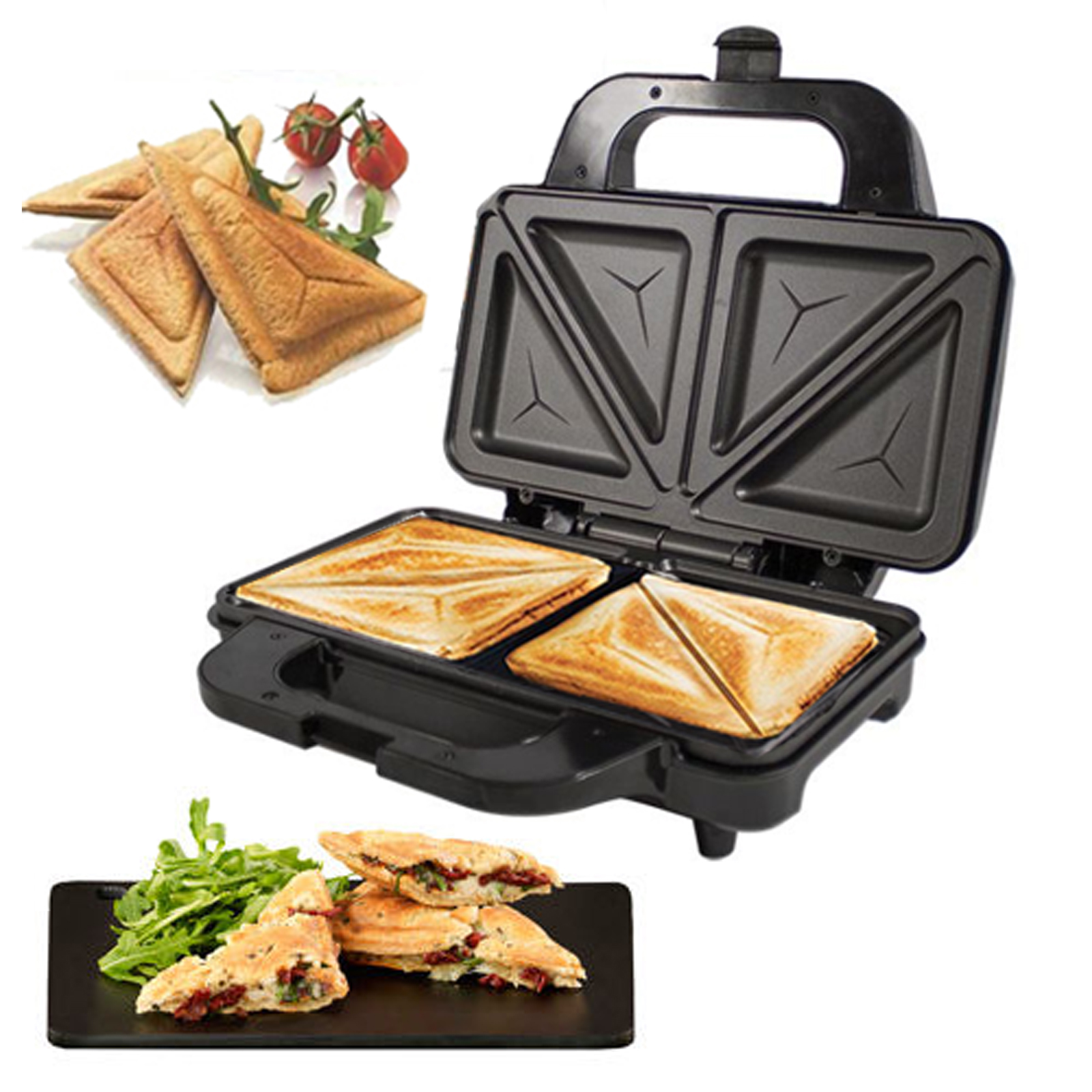 Deep Fill 900W Sandwich Toaster Toastie Maker Non Stick Stainless Steel Machine   eBay